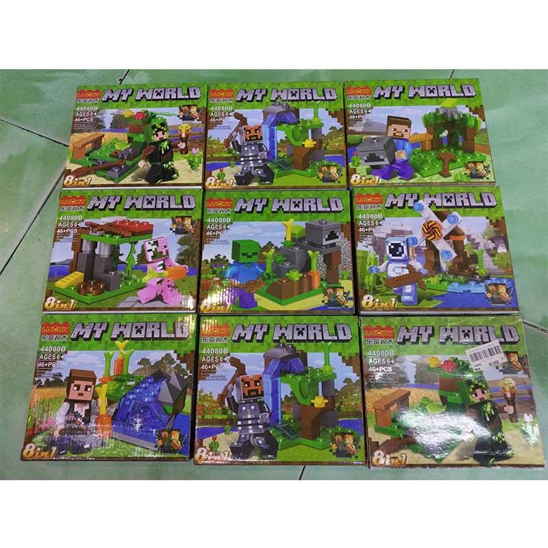 Đồ chơi lắp ráp Hộp ráp My World 44080B – 46pcs