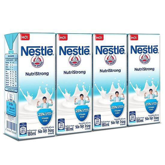 Thùng 48 Hộp Sữa Nước Có Đường Nestle 180ml/ hộp