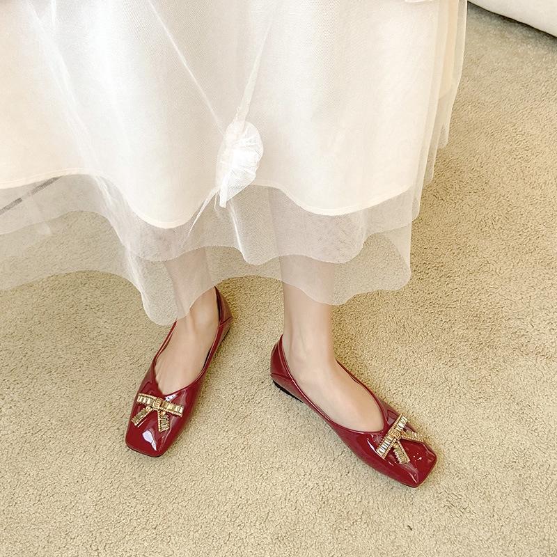 Giày Búp Bê Đính Đá Thời Trang Dành Cho Nữ Size 35-43