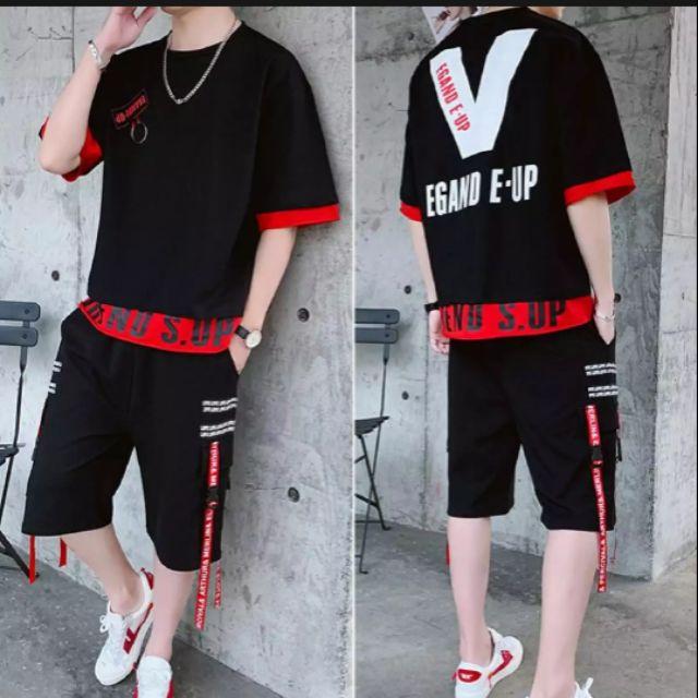 Bộ quần áo thun nam in hình chữ V sau lưng quần phối dây siêu Cute - 22501857 , 6502485811 , 322_6502485811 , 109000 , Bo-quan-ao-thun-nam-in-hinh-chu-V-sau-lung-quan-phoi-day-sieu-Cute-322_6502485811 , shopee.vn , Bộ quần áo thun nam in hình chữ V sau lưng quần phối dây siêu Cute