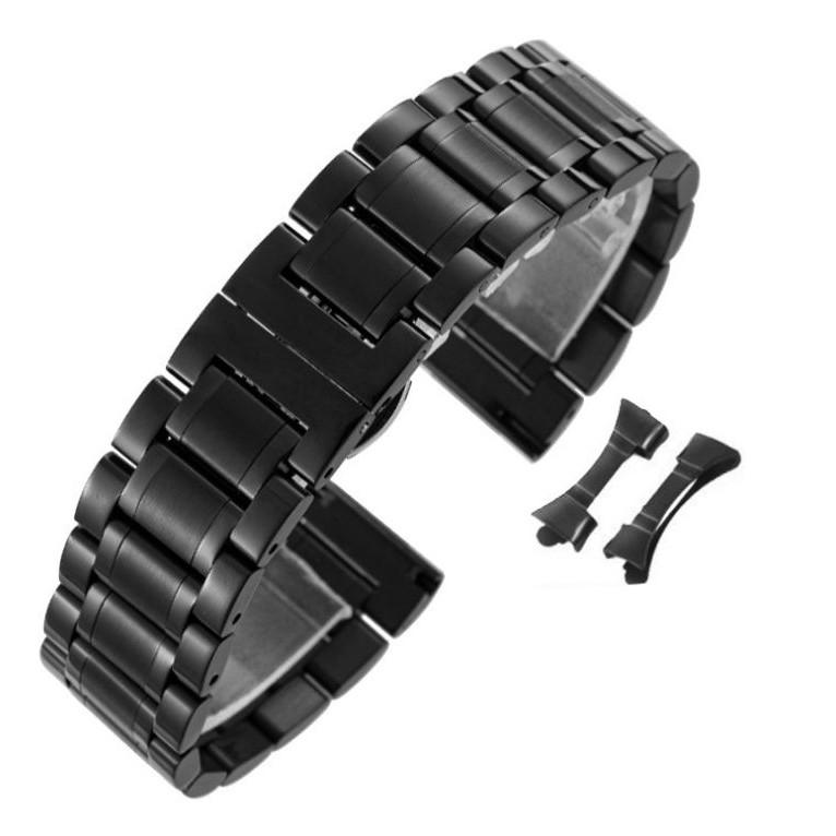 Dây đồng hồ thép không gỉ inox model 02 kiểu khóa bấm chống han gỉ chống bay màu (18mm 20mm 22mm) mã 2019a3