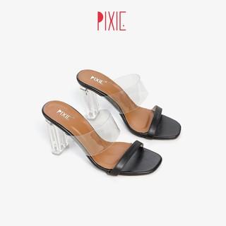 Guốc Cao Gót 7cm Quai Trong Gót Trong Pixie X527