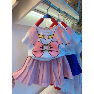 Set váy cho bé 🐷FREESHIP🐷 Váy bé gái thủy thủ xếp li hồng