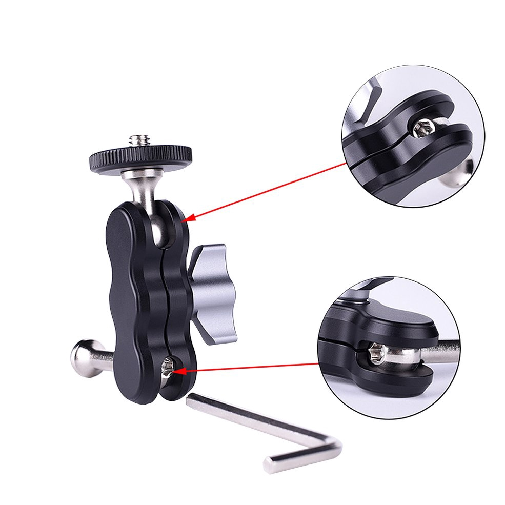 ⭐FS-01 Arm Mount Double Ballheads 1/4 Inch Screw Camera Holder for CameraCOD - 23032927 , 4201811459 , 322_4201811459 , 291000 , FS-01-Arm-Mount-Double-Ballheads-1-4-Inch-Screw-Camera-Holder-for-CameraCOD-322_4201811459 , shopee.vn , ⭐FS-01 Arm Mount Double Ballheads 1/4 Inch Screw Camera Holder for CameraCOD