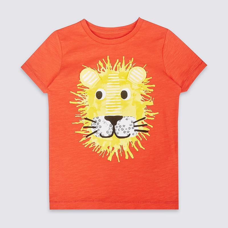 Áo thun jumping cam hình sư tử