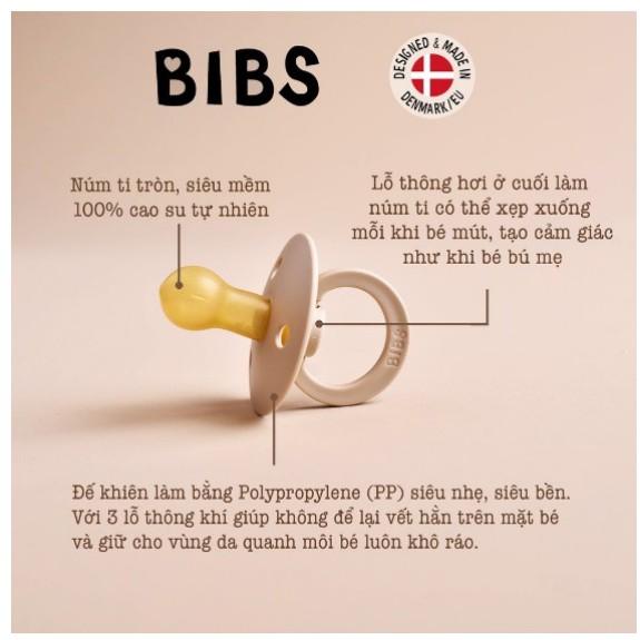 Ti Giả BIBS Đan Mạch Chính Hãng, Tặng kèm nắp trứng.Mẫu mới