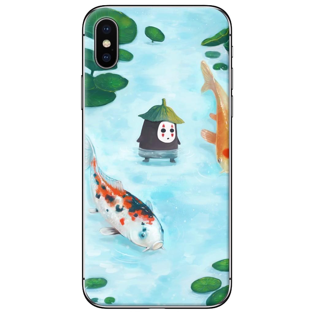 Ốp lưng iPhone X - nhựa dẻo Vô diện cá koi