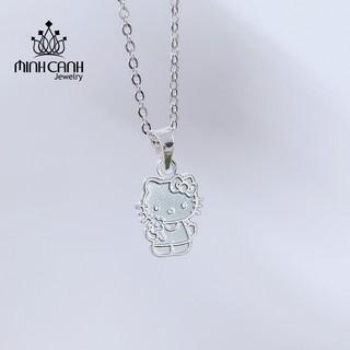 Dây Chuyền Bạc Ta Mặt Hello Kitty Loại Trơn Không Đính Đá - Minh Canh Jewelry