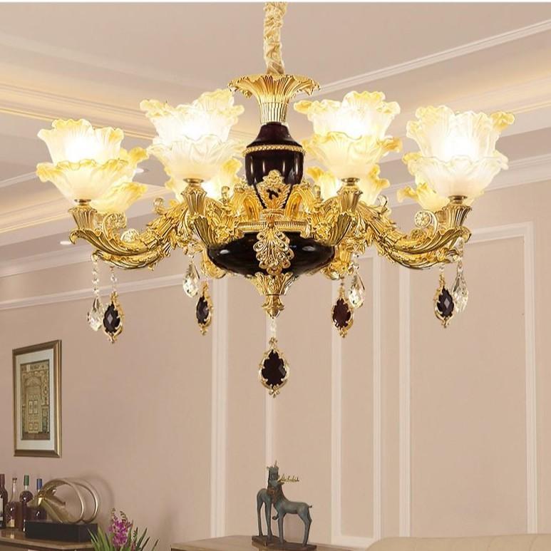 Đèn chùm MONSKY trang trí nội thất IRELIA phong cách Châu Âu hiện đại loại 8 tay - Tặng kèm bóng LED cao cấp