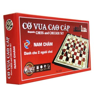 Bộ trò chơi cờ vua nam châm quốc tế cỡ lớn đỏ NO3220 SPG501