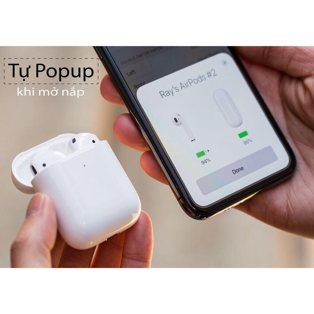 Tai nghe Bluetooth TWS Airpod 2 (Tai nghe Airpods 2)  Đổi Tên - Định Vị , Tự Động Kết Nối, Cảm Biến Vân Tay