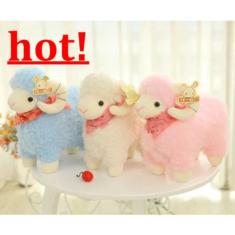 Sheep Wedding Doll Plush Toy Scarf Little Sheep Year of the Mascot Little Doll D