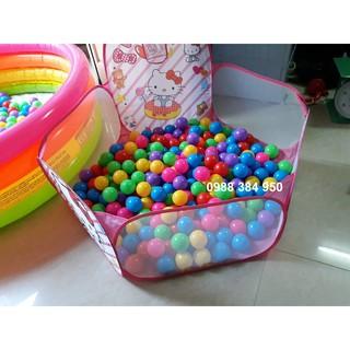 Sale set quây bóng + 100 bóng nhựa mềm phi 7 hàng bóng to của việt nam