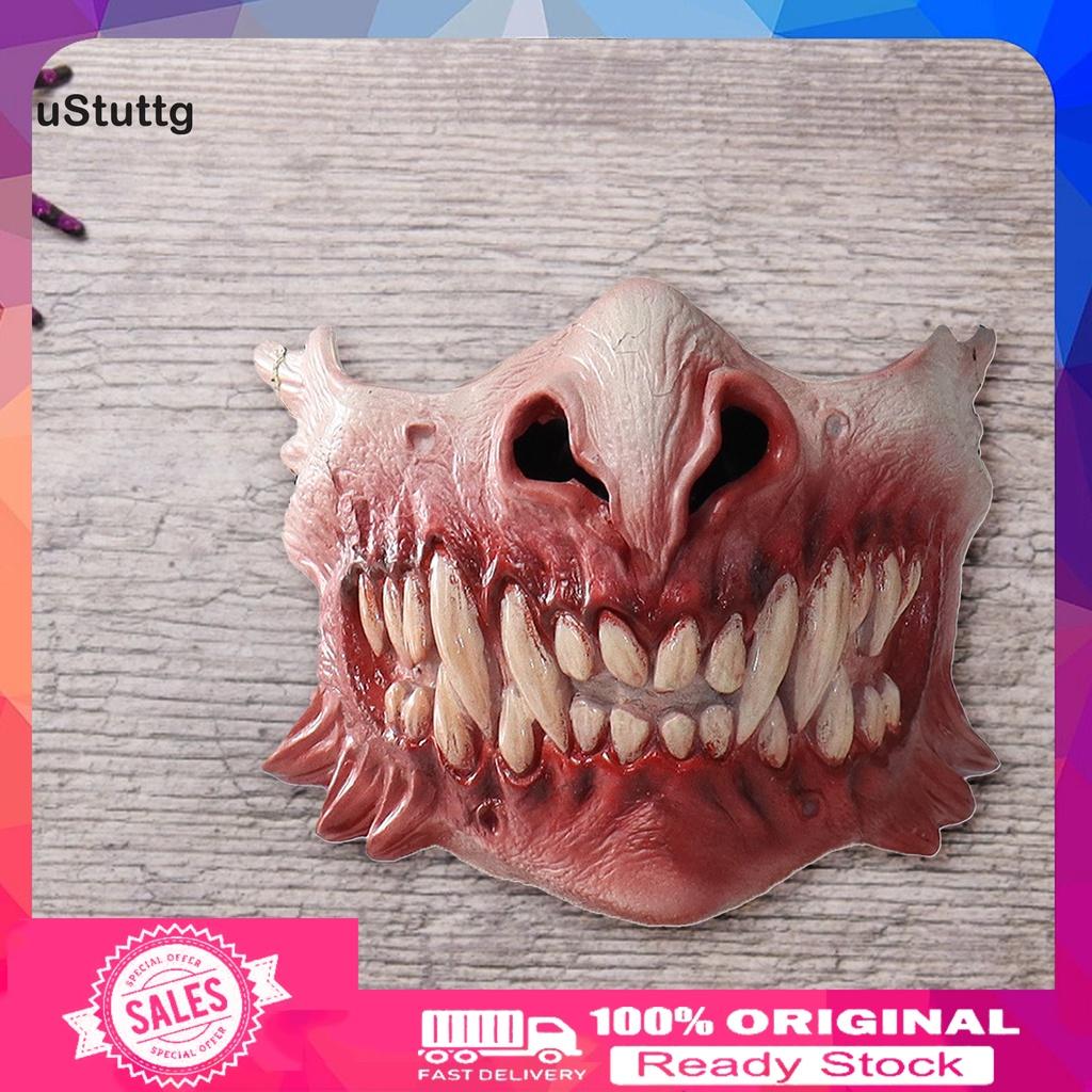 uStuttg Long Lasting Comic Head Decor Emulsion Creepy Halloween Face Cover Creepy for Party