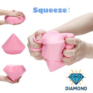 Stress Reliever Pink Diamond Scented Super Slow Rising Kids Toy Cute Squeeze Toy
