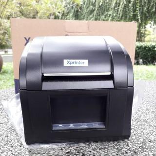 [Mã ELFLASH3 hoàn 10K xu đơn 20K] Máy in mã vạch, tem nhiệt khổ 80mm (2 tem) Xprinter XP-360B