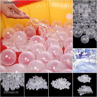 50pcs/lot Baby Safety Transparent White Plastic Pool Ocean Bal