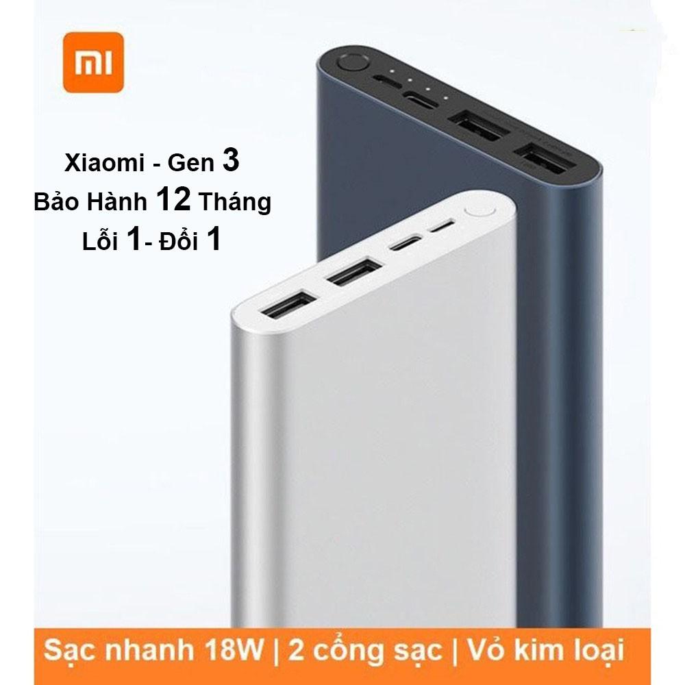 Sạc Dự Phòng Xiaomi/ Redmi Gen 3 18W 10000/20000mAh cổng USB,  type C Fast Charge Power Bank - Bh 12 tháng