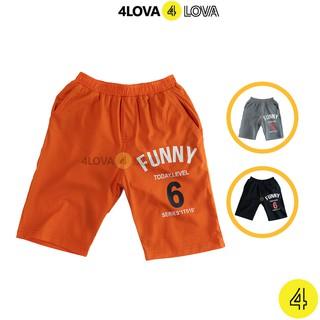 Quần short đùi bé trai 4LOVA Funny cho bé kiểu dáng thể thao khoẻ khoắn