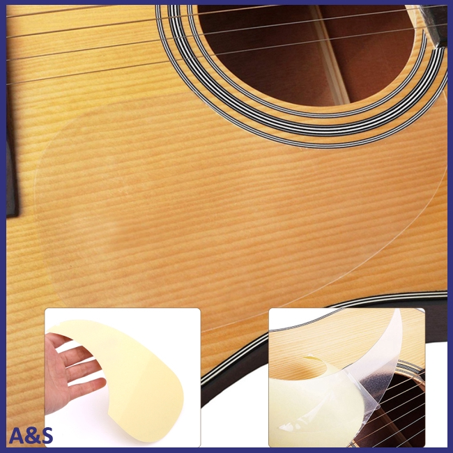 Transparent Acoustic Guitar Pickguard Droplets Self-Adhesive Guard for 40/41 Inches Guitar