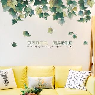 Maple Leaf Sticker Nordic Small Fresh Living Room Bedroom Dormitory ins Sticker
