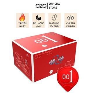 Bao cao su OZO 0.01 Đỏ Passionate Factor mỏng, nhiều gel, truyền nhiệt tốt, cảm giác chân thật - Hộp 10 bcs-olo store thumbnail