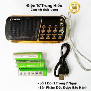 Combo Loa Đài Craven nghe thẻ nhớ, USB, FM, Máy nghe nhạc mini Tắm Ngôn Ngữ Caraven CR 853 3 Pin thumbnail