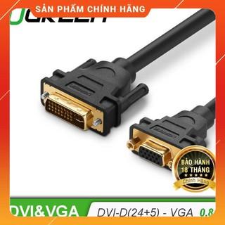 [Mã ELFLASH5 giảm 20K đơn 50K] Cáp chuyển đổi DVI 24+5 sang VGA dài 15cm UGREEN 30499 dailyphukien
