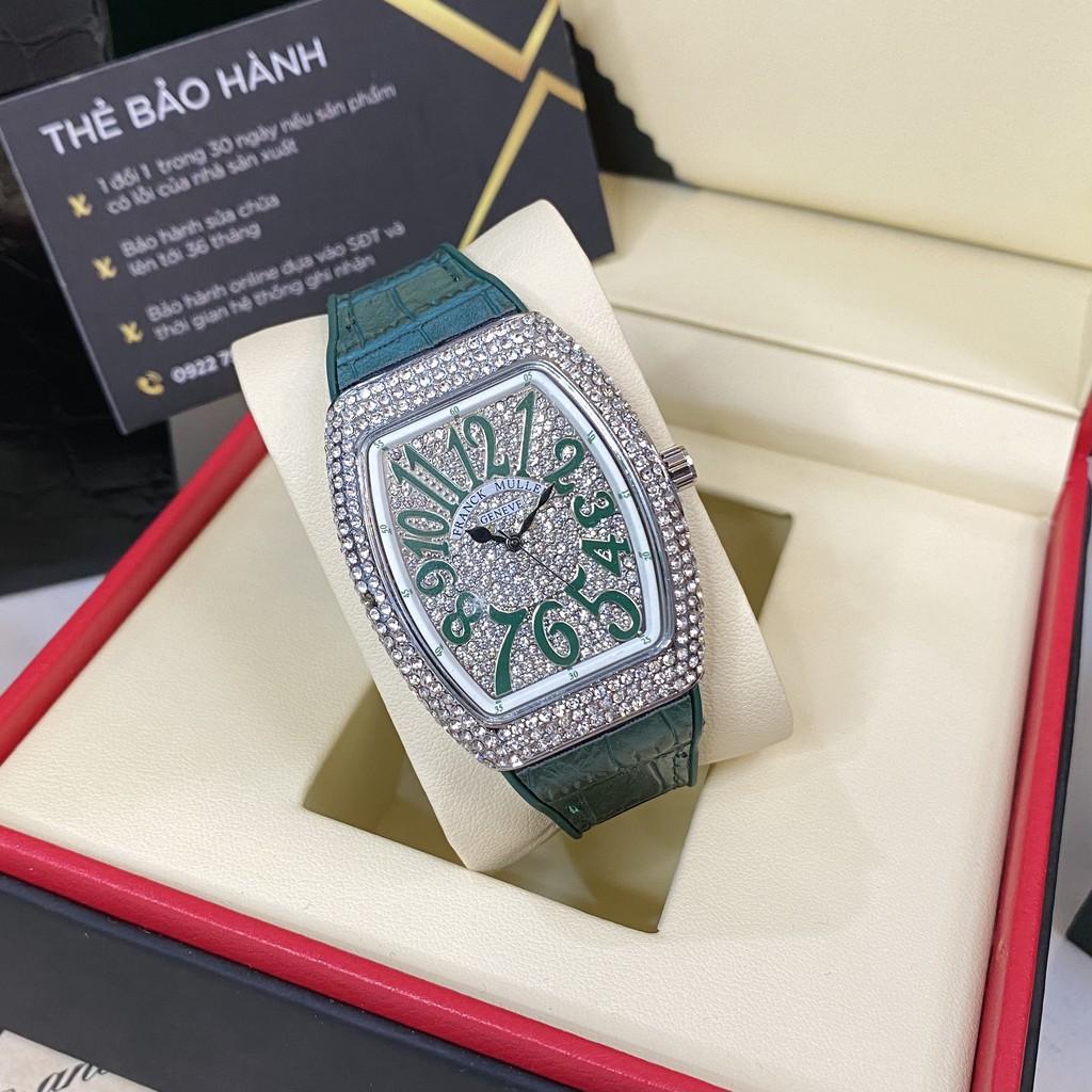 Đồng hồ nữ Franck Muller máy pin full đá cao cấp có bảo hành DHN002 trangmoon