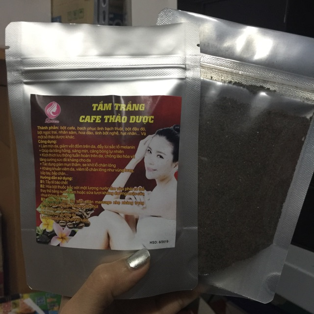 100gram bột cafe tẩy da chết tắm trắng
