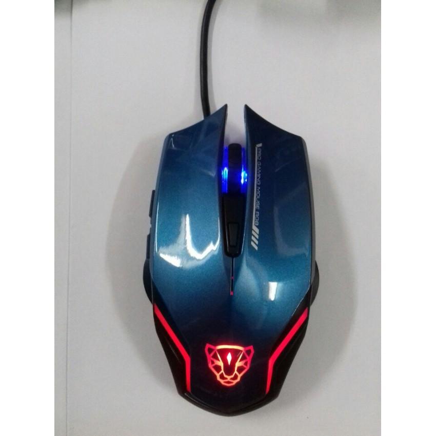 Chuột chuyên game motospeed F60 rgb (xanh)