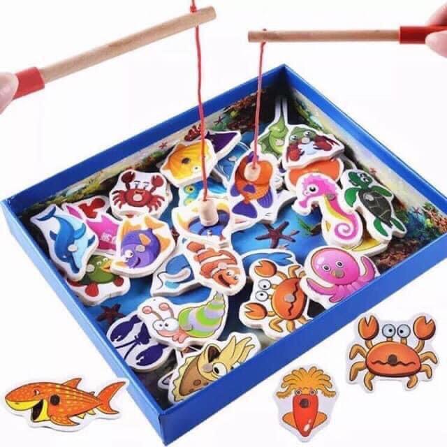 Bộ đồ chơi câu cá bằng gỗ 32 chi tiết