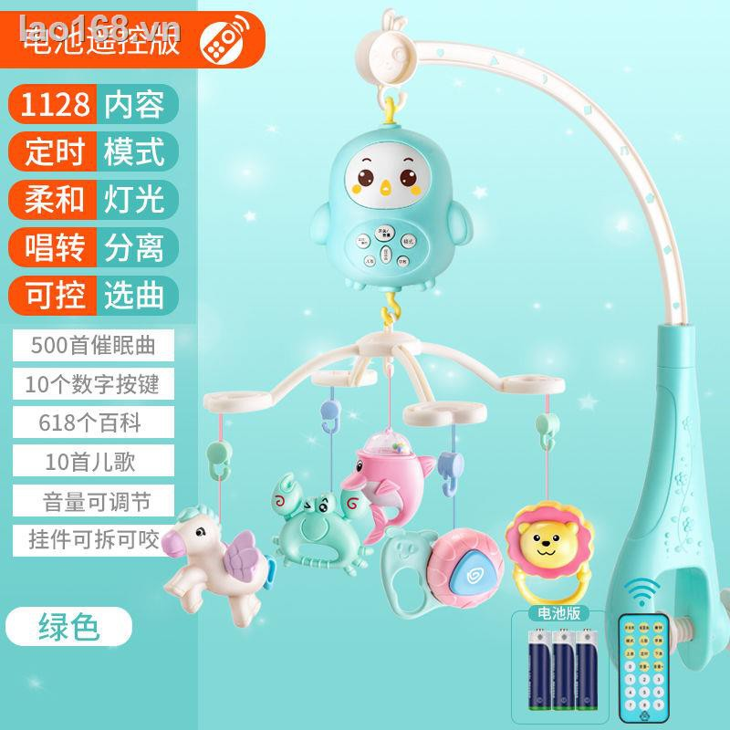 brain game✻☏Newborn baby comfort bed bell 3-6-12 months music rotating bedside 0-1 year old rattle toy