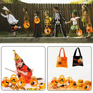 Halloween Trick or Treating Pumkin Candy Bag Gift Fruit Bags Portable Handheld