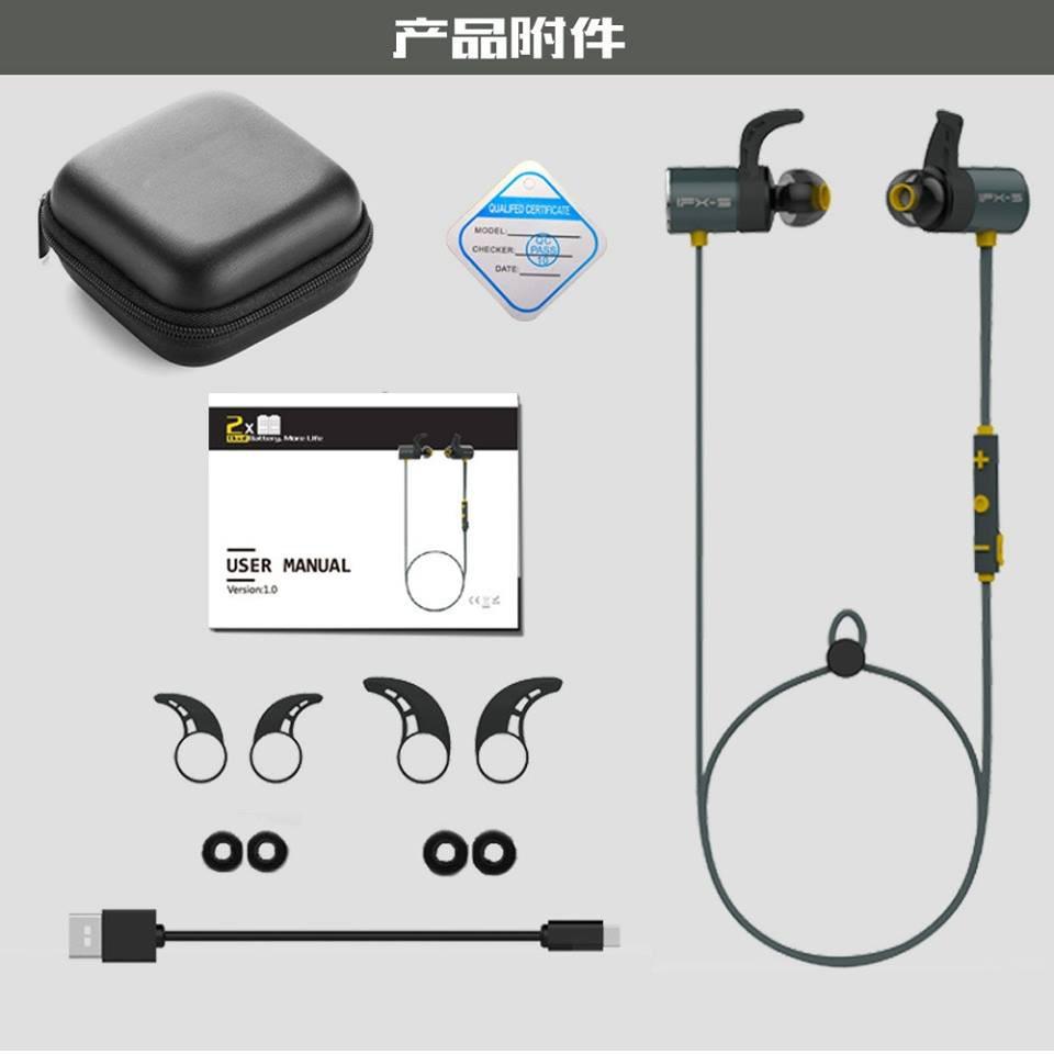 Tai nghe bluetooth không dây Plextone BX343 (tặng kèm box đựng tai nghe)