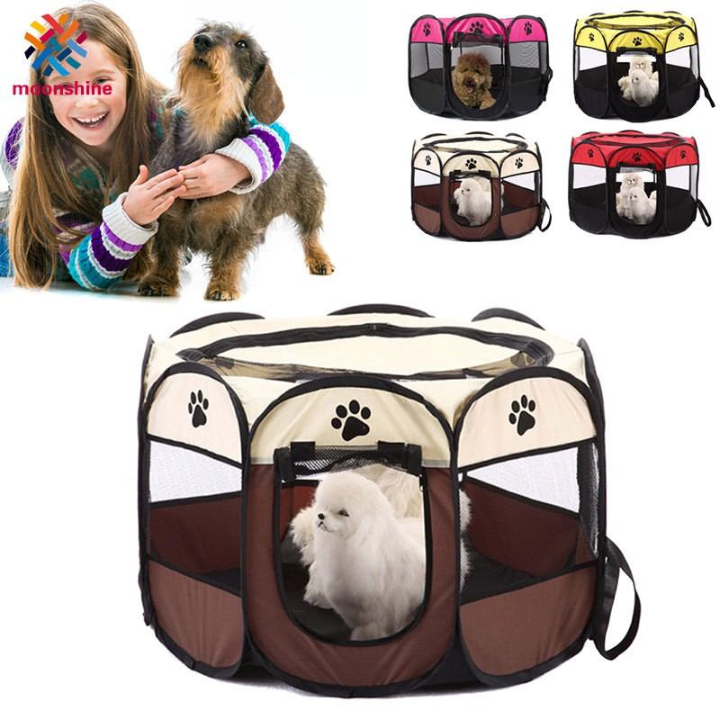 Portable Foldable Puppy Dog Pet Cat Rabbit Fabric Playpen Crate Cage Kennel Tent Pet Supplies