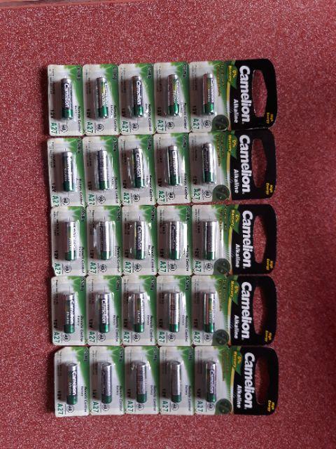 Pin remote cửa cuốn vỉ 5 viên 12V, 27A
