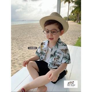 Bộ ĐŨI cho bé bộ quần áo trẻ em đi biển chất ĐŨI LANH 100%