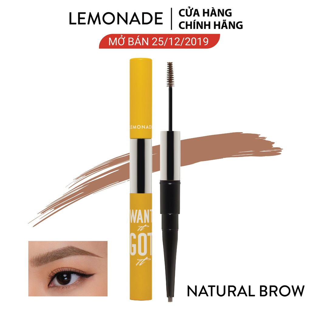 Chì kẻ mày 2 đầu Lemonade Want It Got It Dual Eyebrow 4g #1