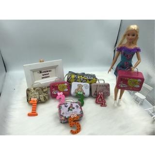 Vali xách tay mini. Vali cho búp bê barbie. Vali mini decor. Trang trí chụp hình