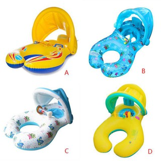 Superseller✨ Parents-child Swim Ring with Baby Safe Sit Summer Fun Swim Trainer