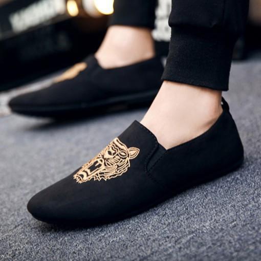 Giày Lười Nam Da Lộn Phong Cách Mẫu Mới Nhất, GIÀY SLIP ON NAM ĐẸP GIÁ RẺ