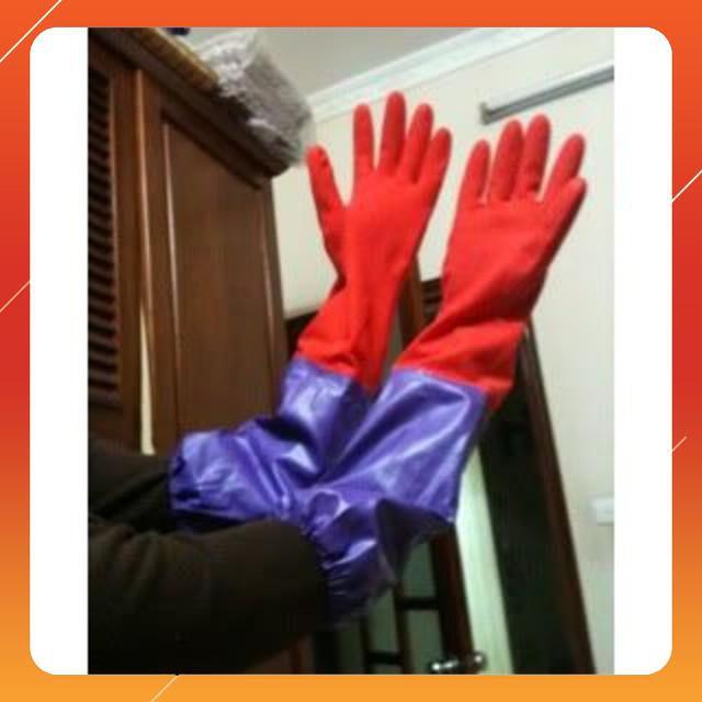 Găng tay cao su dài lót nỉ - RẺ NHẤT HÀ NỘI