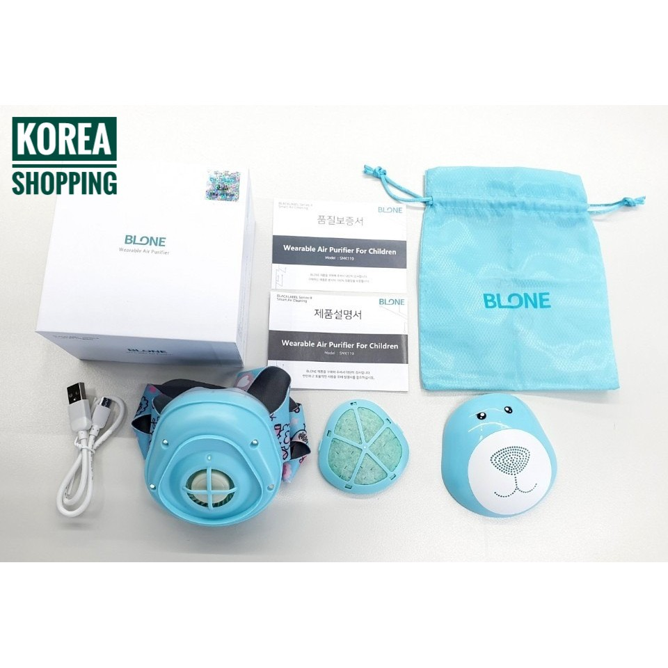 Khẩu Trang Cho Bé 🐻 Thông Minh 🐻 Lõi Lọc 🐻 BLONE 🐻 Sử dụng Pin Sạc 🐻 Có Quạt Thông Gió