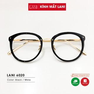 Gọng kính cận Quỳnh Thy kim loại dáng bầu cá tính phụ kiện thời trang Lani 6020 - Lắp Mắt Cận Theo Yêu Cầu thumbnail
