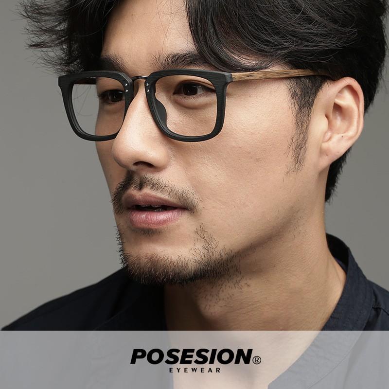 Gọng kính gỗ Posesion Gawa phong cách Retro mắt kính nam chính hãng thiết kế tại Nhật Bản