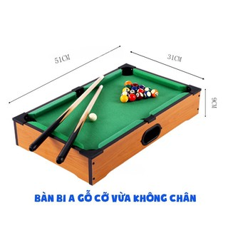 Bi-a Mini Gỗ - Size nhỏ KHÔNG CHÂN 51 31 10cm thumbnail