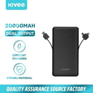 KiIVEE PT202 Pin sạc dự phòng dung lượng 20000mah có đèn LED báo nguồn và cáp sạc chất lượng cao thumbnail