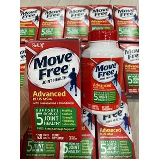 Viên uống hỗ trợ xương khớp Schiff Move Free Advanced Plus MSM with Glucosamine + Chondroitin 120 viên *DATE 2023*