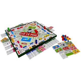 Đồ chơi CỜ TỶ PHÚ mẫu 2 loại lớn 420x420x20 mm (63 chi tiết – phiên bản Việt của Monopoly)
